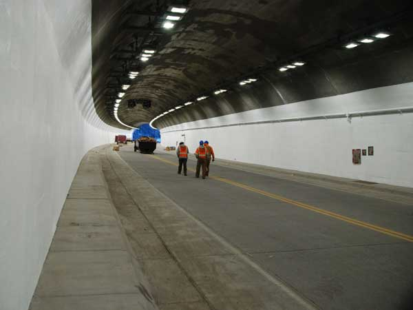 Anti-Graffiti Coated Tunnel